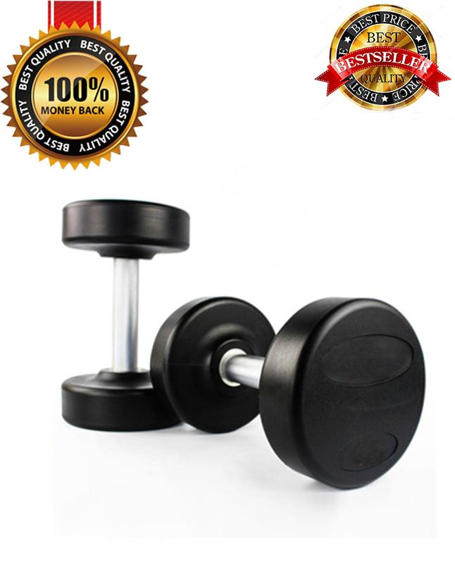 2KG Fine Quality Professional Rubber Coated Dumbbell High Quality Fitness  Home Gym Home Exercise