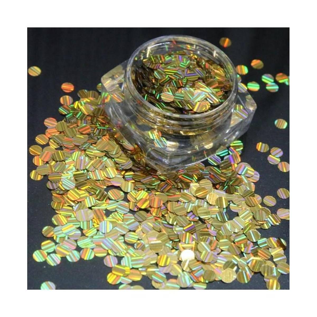 3g Golden Glitter Pot For Nails