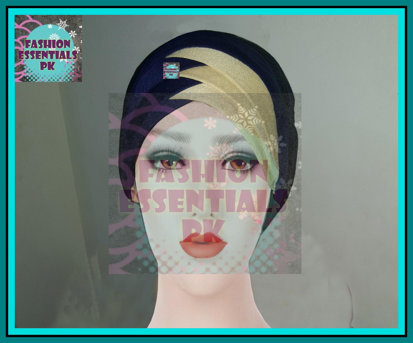Fashion Women 3D Layer Band Free Size Under Scarf Band Self Print