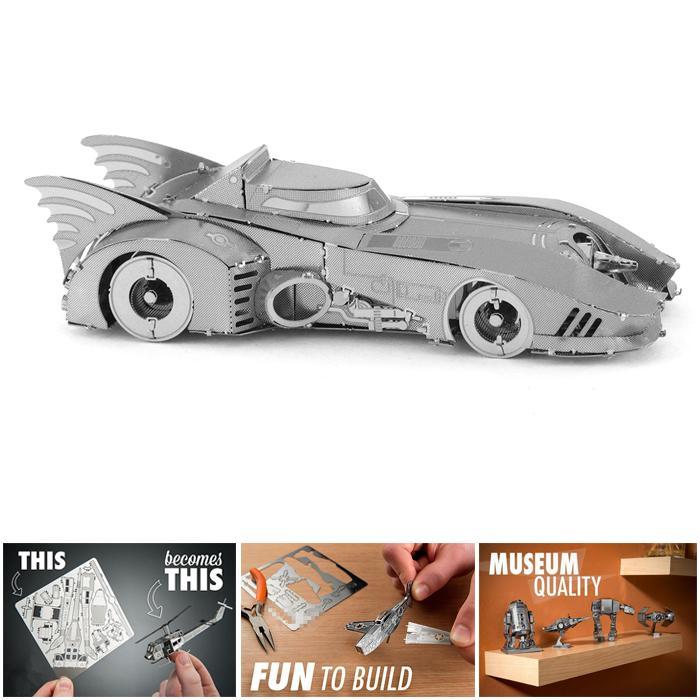 Batman 1989 Batmobile DIY Metal Model - Unassembled