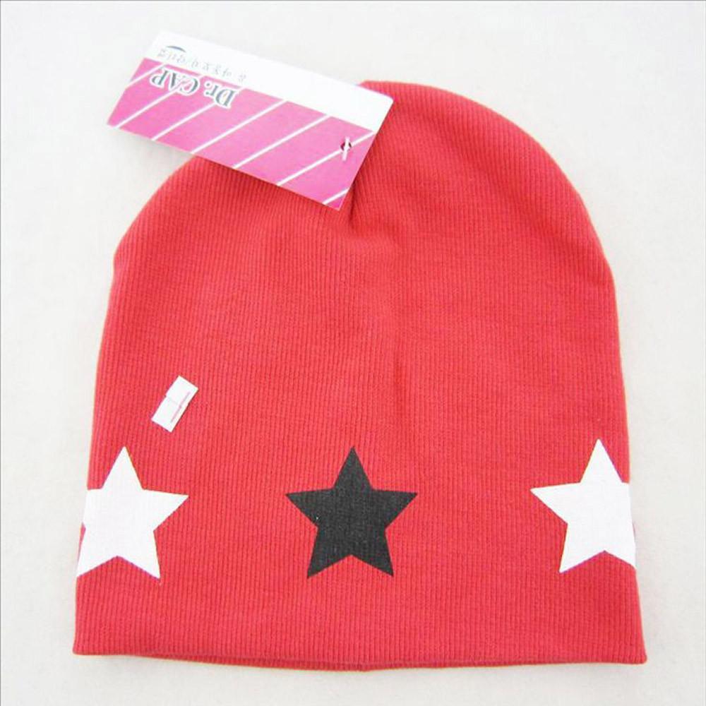 7805f51b397 Rainbowroom 2019 Print Star Baby Beanie For Boys Girls Cotton Hat ...