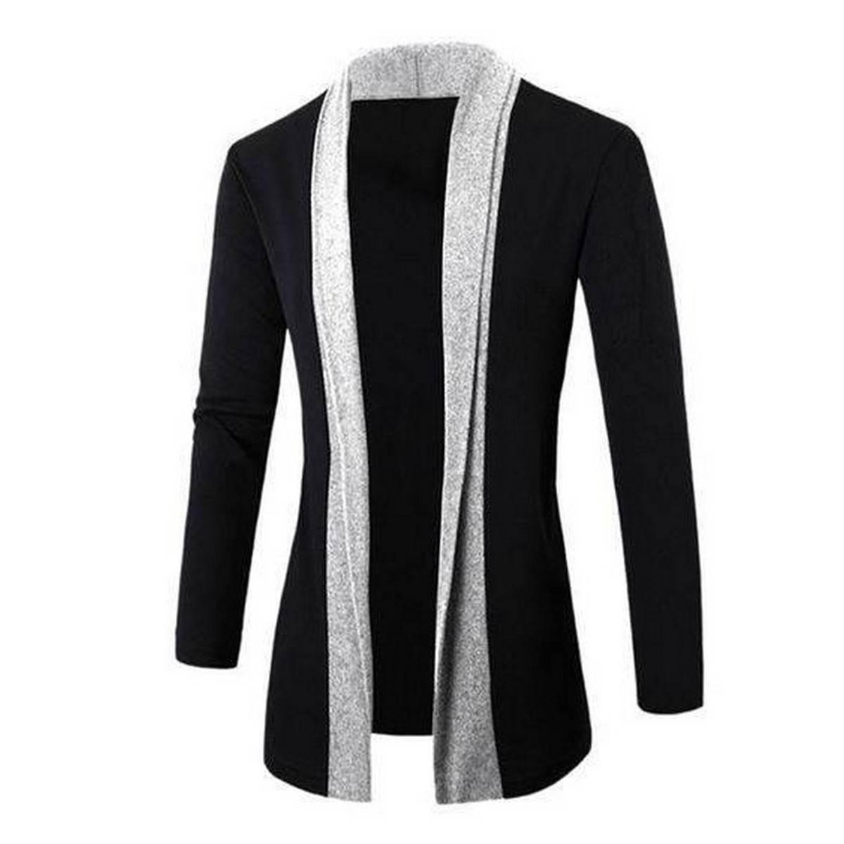 Oxygen Clothing Black Cardigan Hgrey Patch