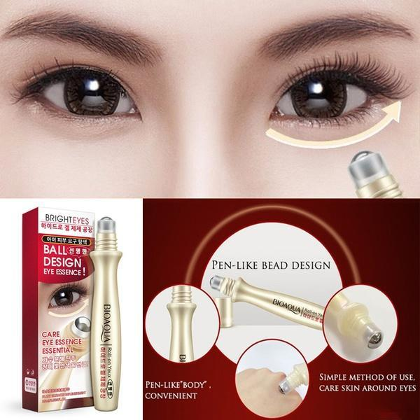 BioAqua Anti-Wrinkle Puffiness Eye Bag Removal Roll-On Eye Ball For Dark Circle Skin Care 15ml