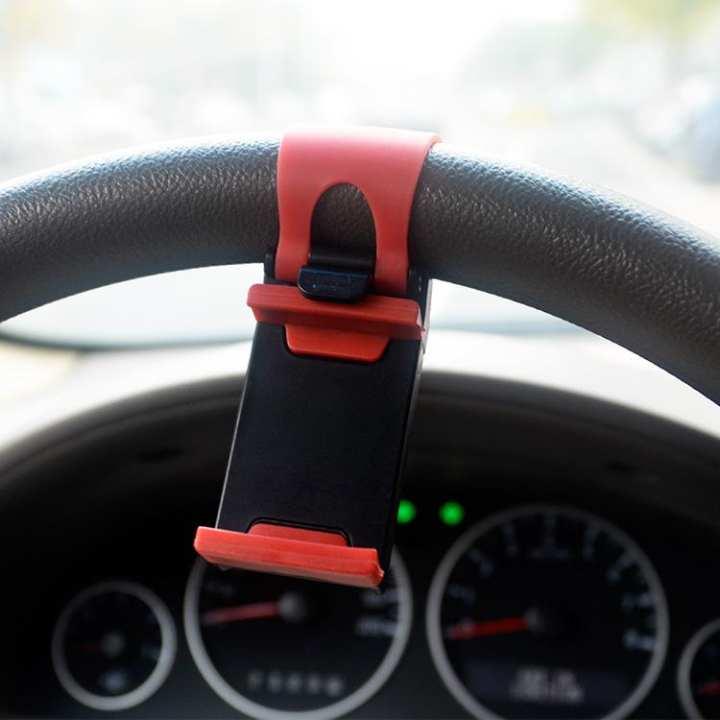 universal steering wheel smart phone car holder