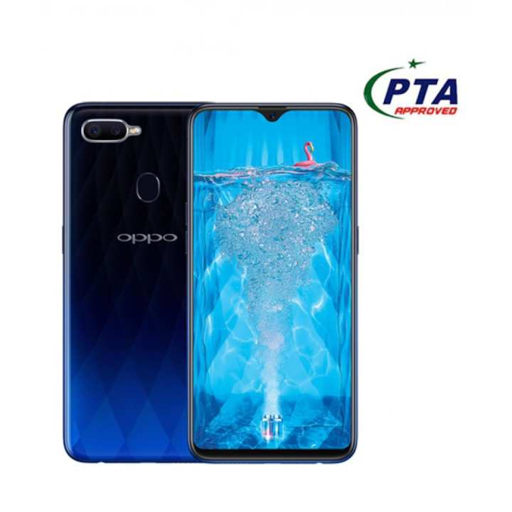 Oppo F9 - 6.3-inch FHD+ waterdrop Octa-core (4x-2.0 GHz Cortex) - 4GB RAM + 64GB ROM - 25 MP with Sensor HDR - Twilight Blue