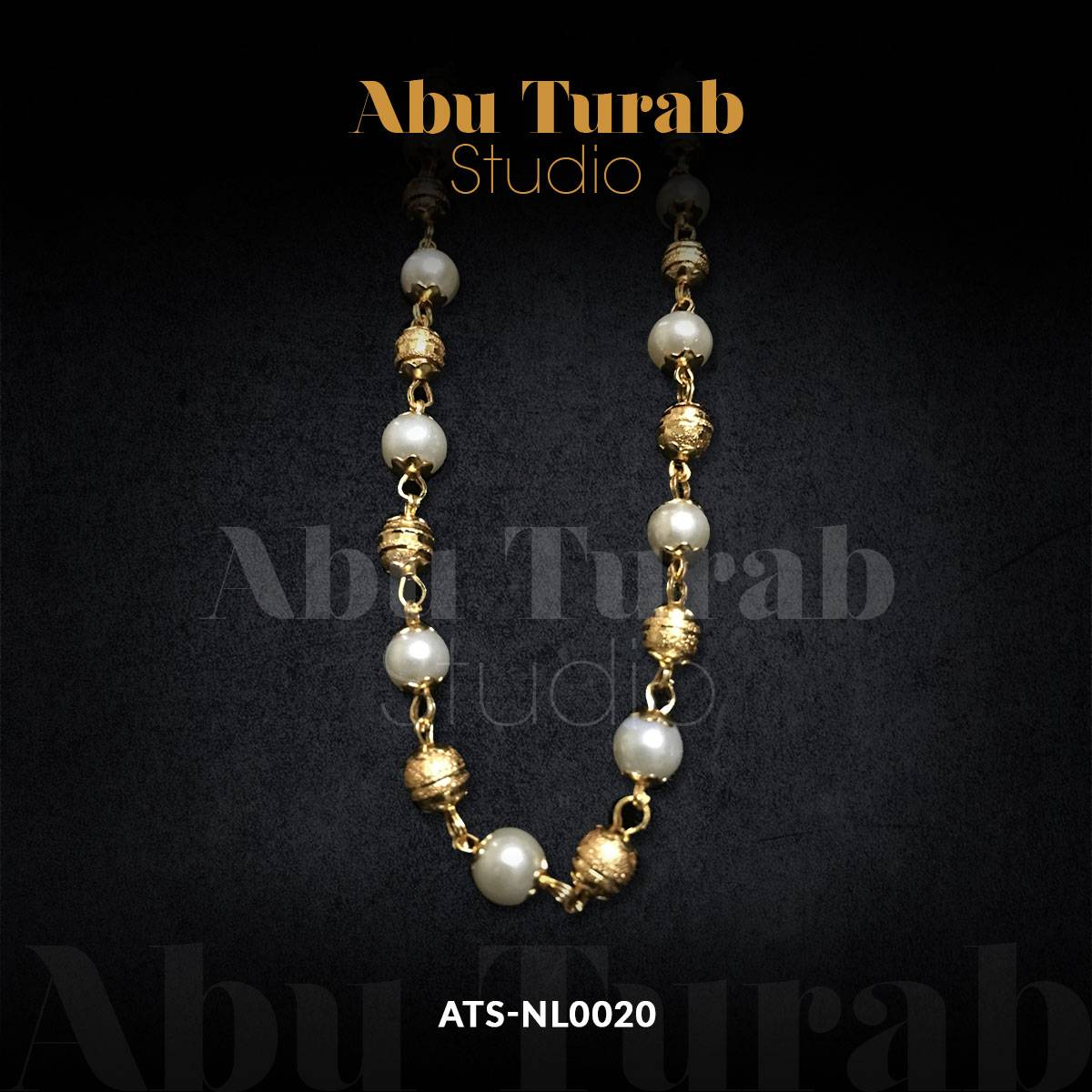 Abu Turab Studio - Fancy Golden Malla with Polki Pearls & Golden Balls For Ladies | Wedding And Party Asseccories