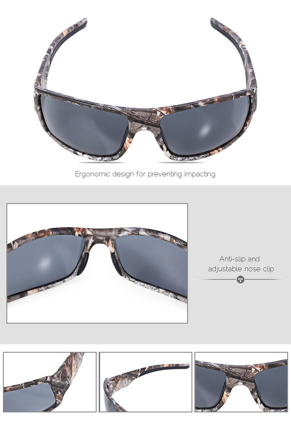 fbe0230859e ... Outdoor Sports Camouflage Frame Windproof Polarized Sunglasses Fishing  Eyeglasses ...