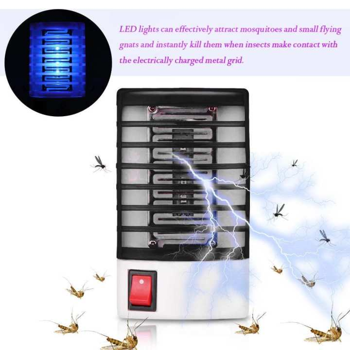 Electric Insect Killer lamp Mosquito Gnat Most Flying Pests Trap Bedroom Indoor for Deep Sleep
