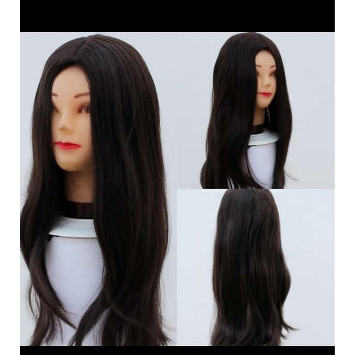 New full head wig for women's-Natural brown color