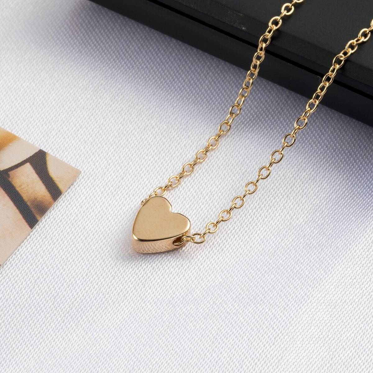 World Wide Premium Quality Stainless Steal Heart Shape Pendant Chain Necklace For Women