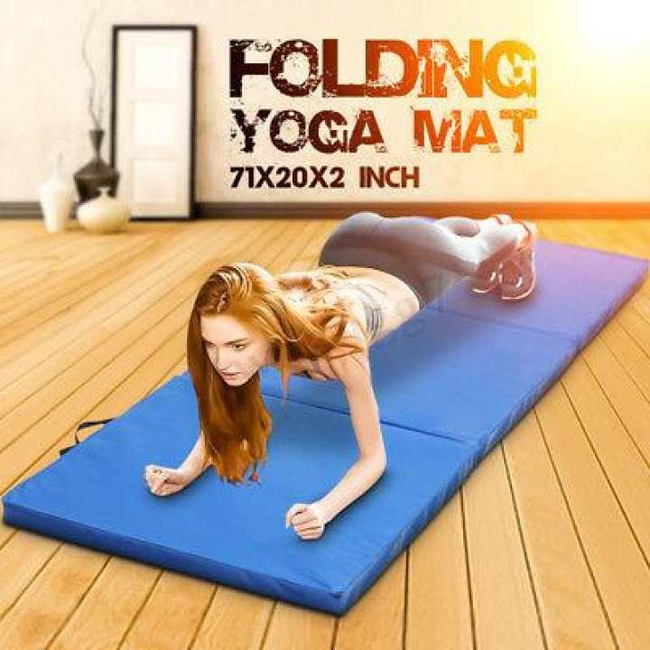 1 x Imported Large Size PVC Anti Slip Sports Yoga Mat Fitness Training Mat Exercise Mat Gym Mat Exercise Mat Carpet Mat Yoga Mats