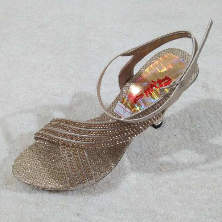 Golden Bridal Fancy Sandals For Women
