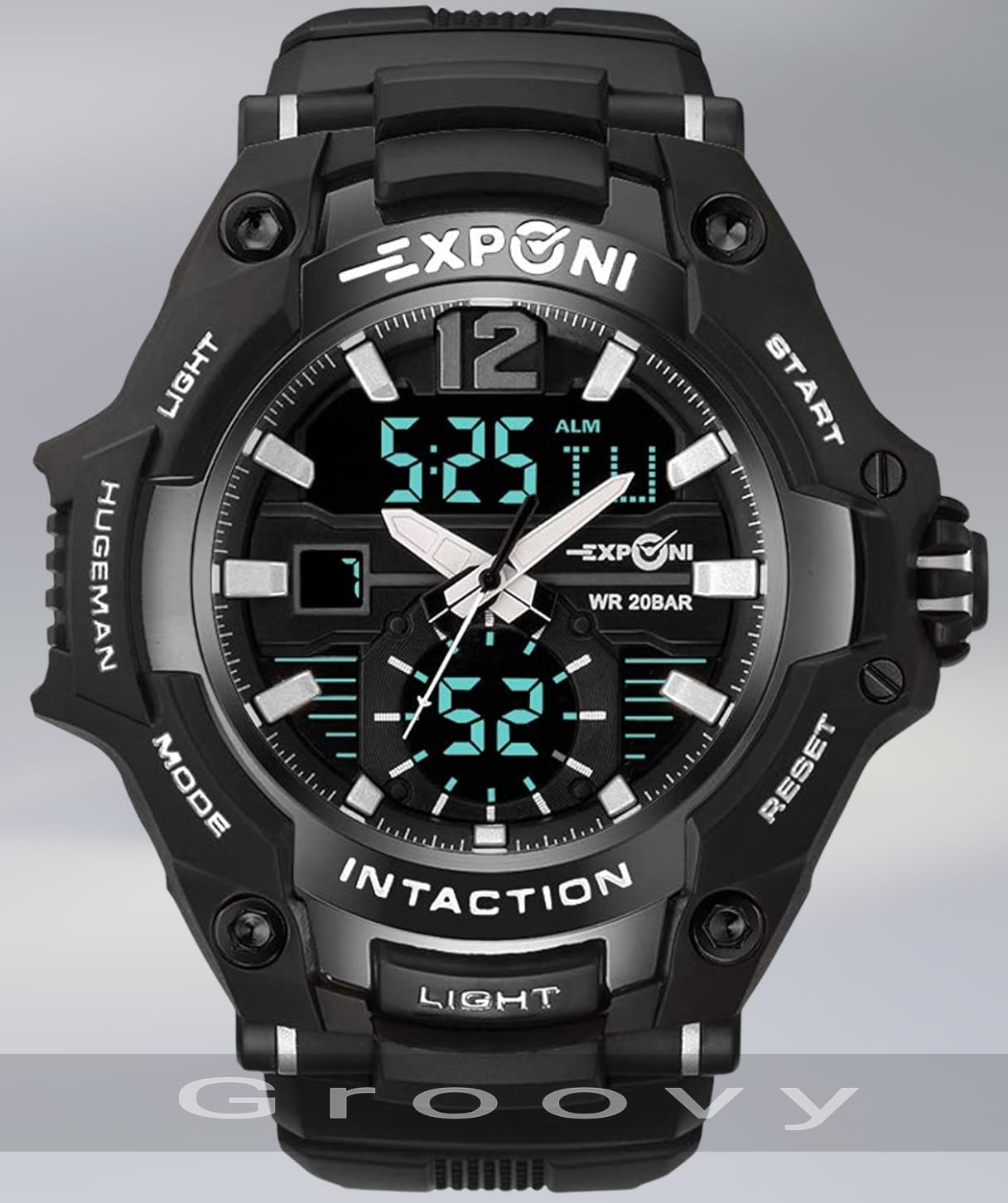 EXPCNI Multi-function Sports Waterproof Men's Dual Time Digital Electronic Watch - Exponi