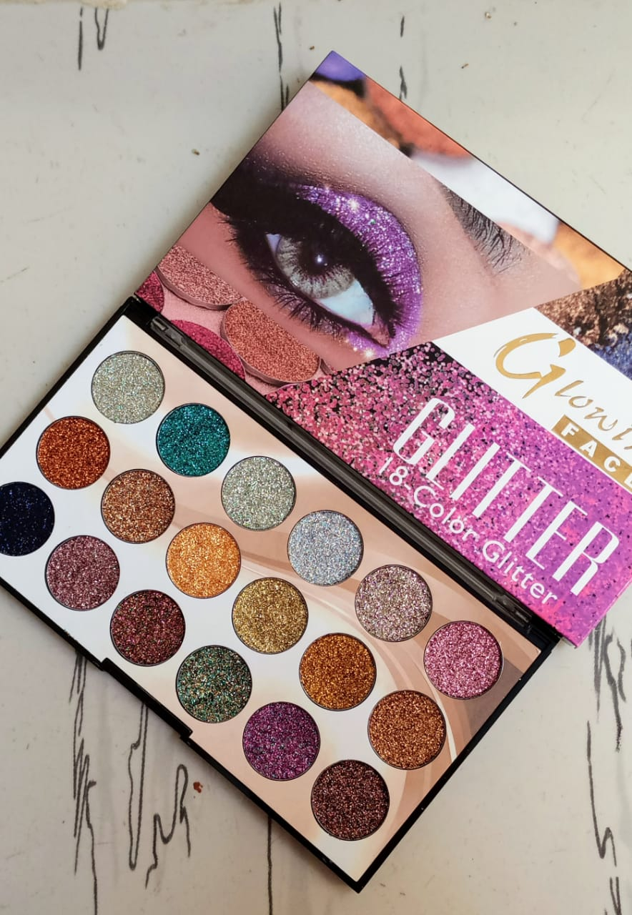 18 Color Makeup Glitter Eyeshadow Palette High Class Plates