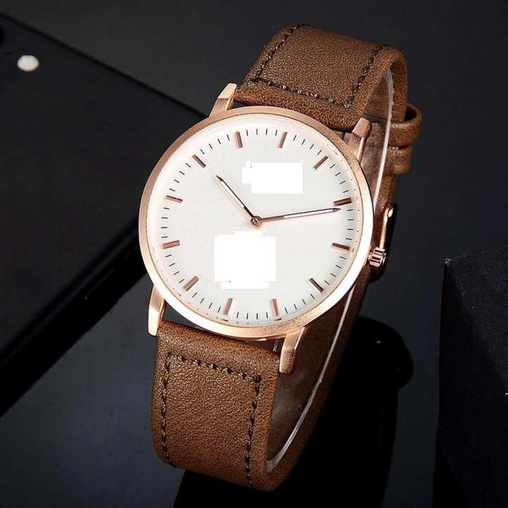 New Design Leather Belt Analog Watch for Men
