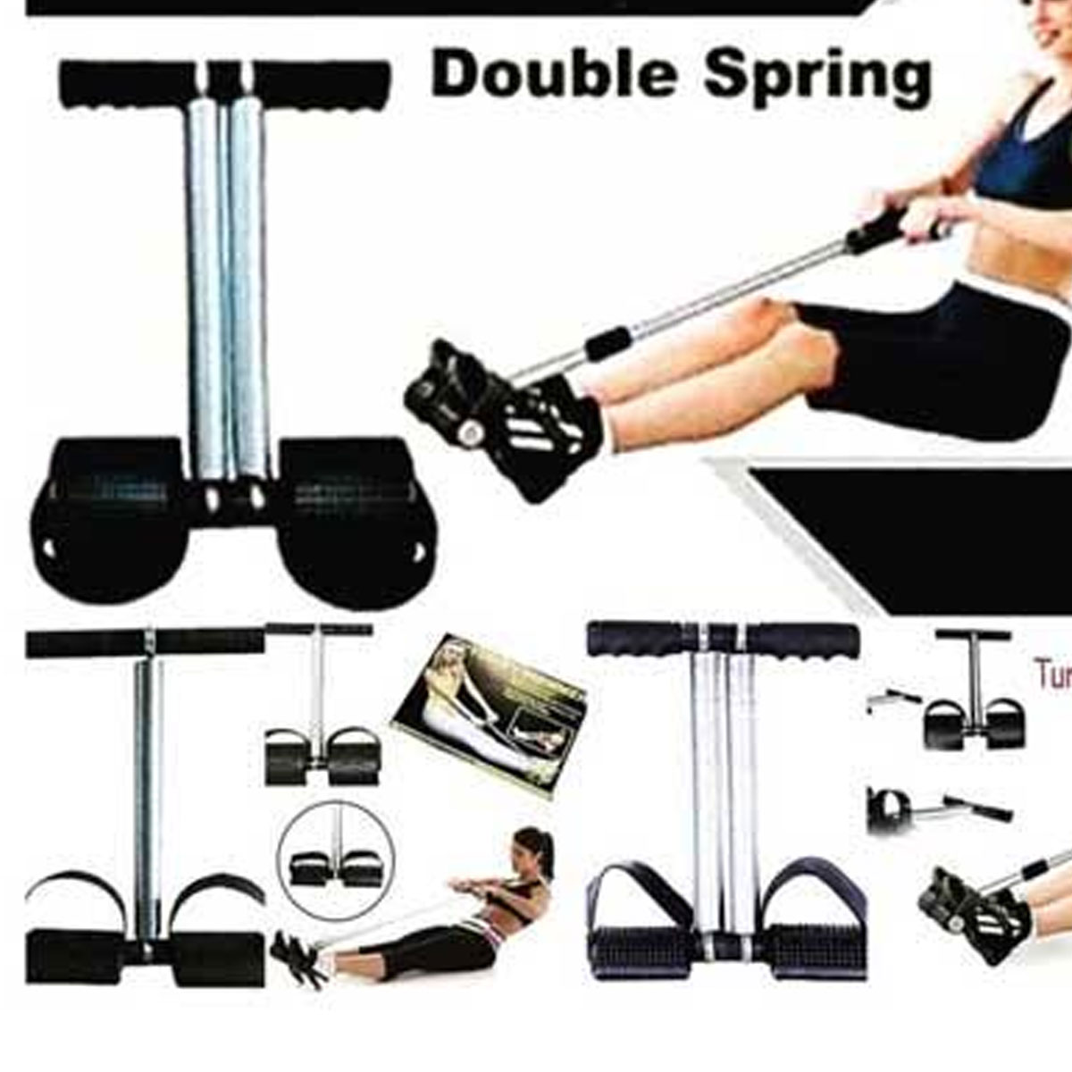 TUMMY TRIMMER Double SPRING WEIGHT LOSS EXERCISE BODY FITNESS HOME GYM FOR WOMEN / MEN DOUBLE SPRING HIGH QUALITY