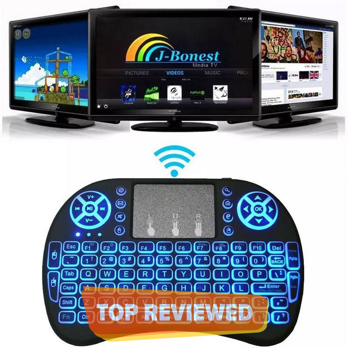 Mini Wireless Keyboard Remote Control Air Mouse Touchpad for Smart TV Box PC 2.4GHz
