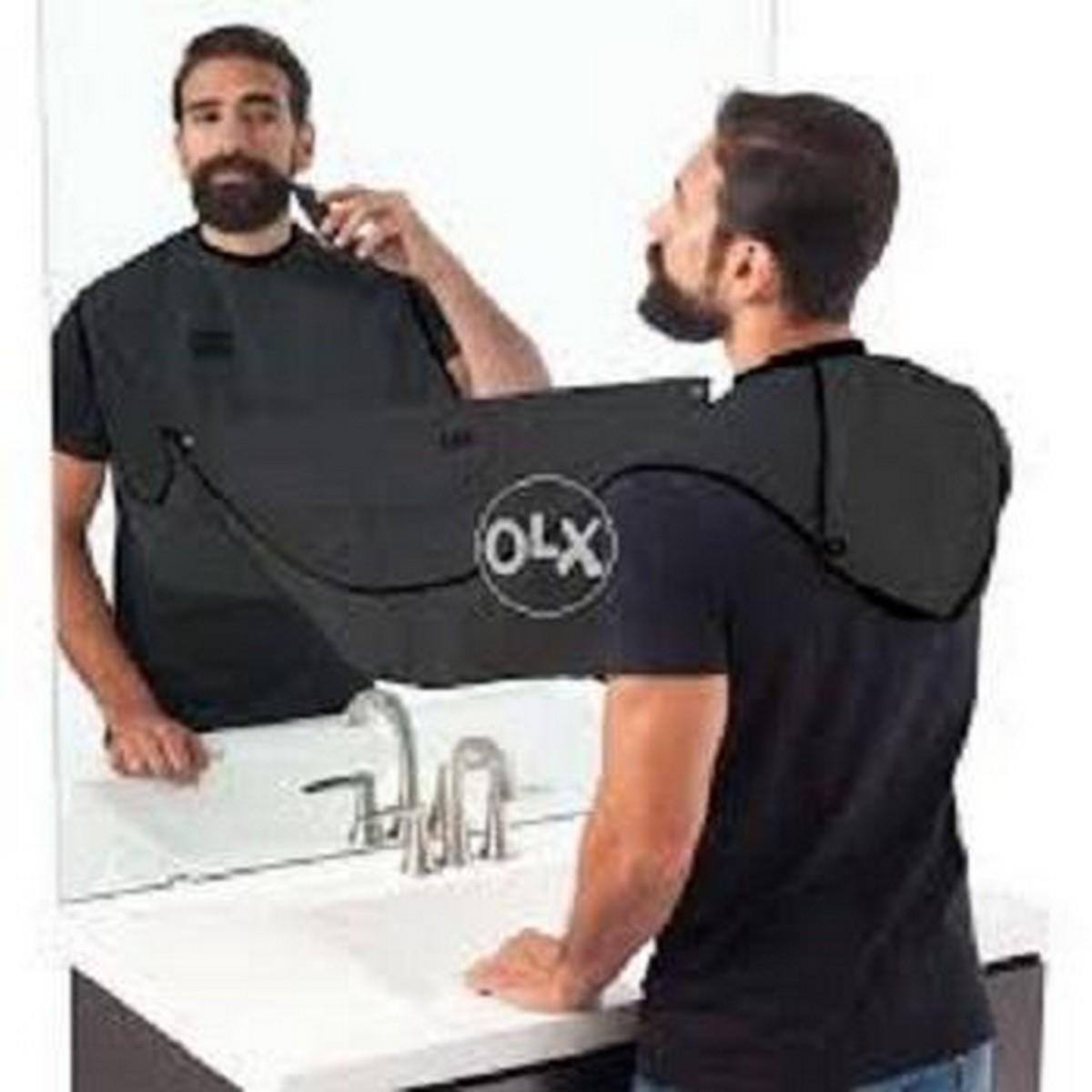Beard Bib Black Shaving Grooming Apron