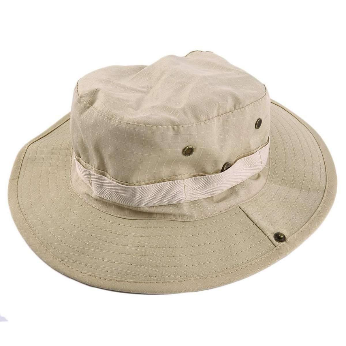 Waterproof Outdoor Wide Brim Sun Hat, Fishing Hiking Sun Boonie Hat for Men & Women