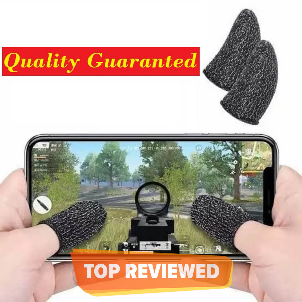 PUBG Thumb Gloves, Anti-Sweat, Finger Sleeve, Breathable Mobile Game & PUBG Trigger Controller