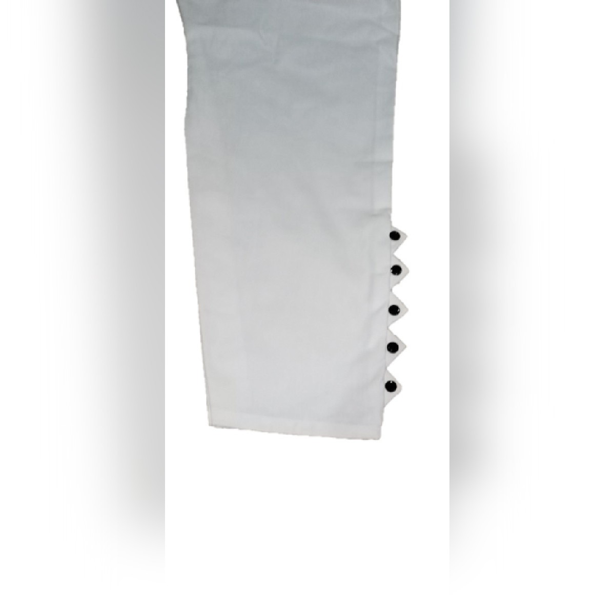 Cotton Pc White Capri Trousers For Girls New Year Sale