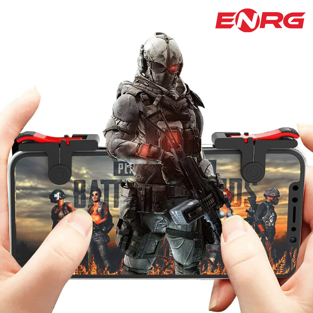 ENRG Mobile Gaming Triggers Controller Fire Buttons L1 R1 For Mobile Gamers PUBG - Red