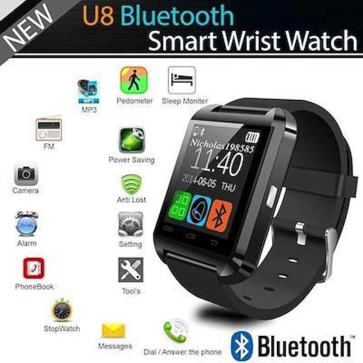 Ratings & Reviews of Smart Watch U8 Bluetooth Wristwatch Phone with Touch Screen for Android OS and iOS Smartphone Samsung S