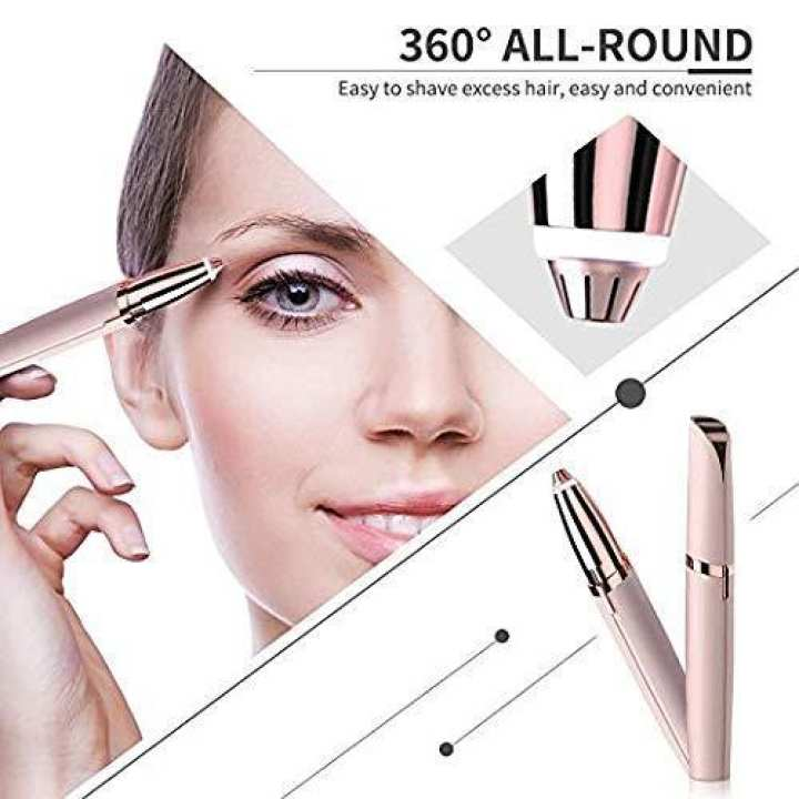 Rechargeable Flawless Eyebrow Hair Remover Eyebrow Trimmer Pen Electric Shaver For Women Face Care Instant Hair Remover Tool