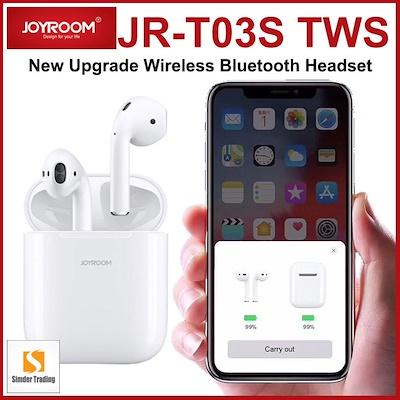 JOYROOM JR-T03S TWS Wireless Bluetooth 5 0 Touch Control POP UP Window  Earbuds Airpods with Wireless Charging