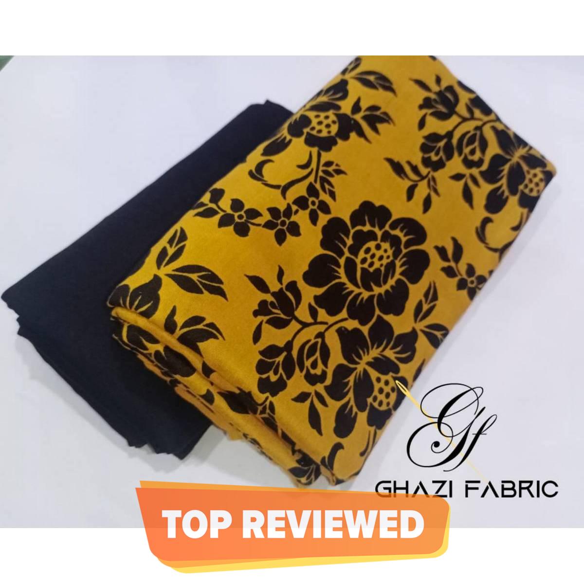 High Demand  Unstich Linen Fabric New design  printed shirt & plain trouser fabric New Linen Collection product of Ghazi Fabric