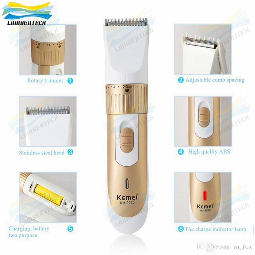 Original Kemei KM-9020 Electric Beard Hair Trimmers Electric Hair Clipper Trimmer Rechargeable Stainless steel kit blade With box EU US Plug