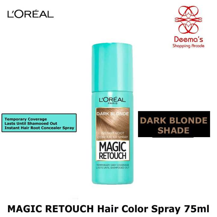 Magic ReTouch Instant Hair Root Concealer Spray 75 ml BLONDE Shade LOREAL PARIS (Temporary Dye)