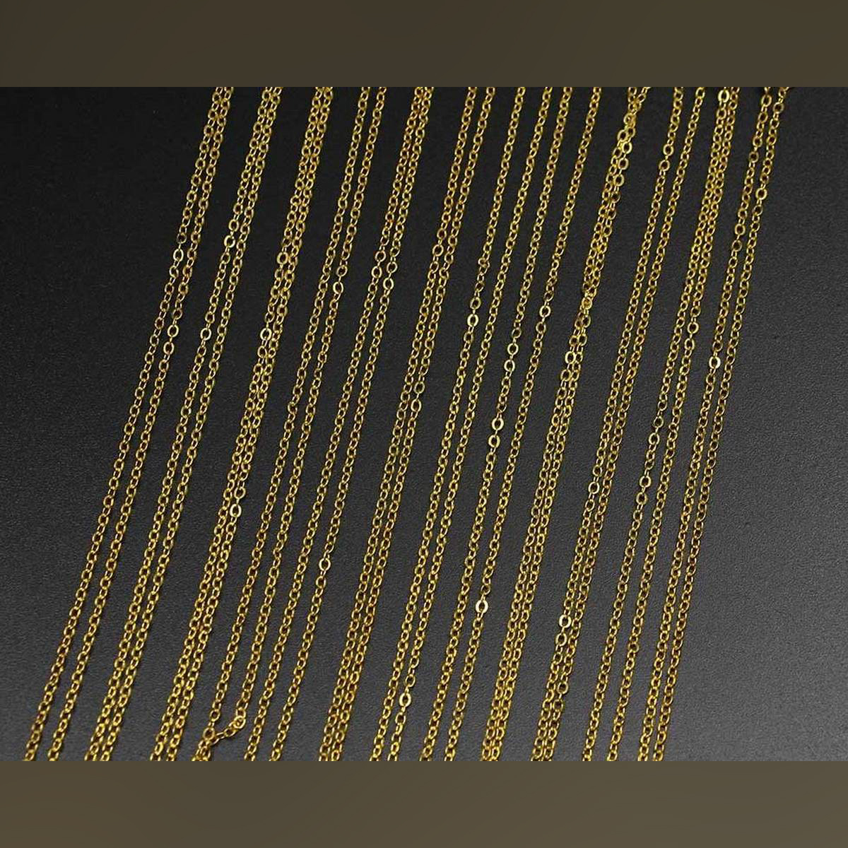 50cm Gold  Necklace Charm Chains For DIY Jewelry Findings Making Materials Accessories