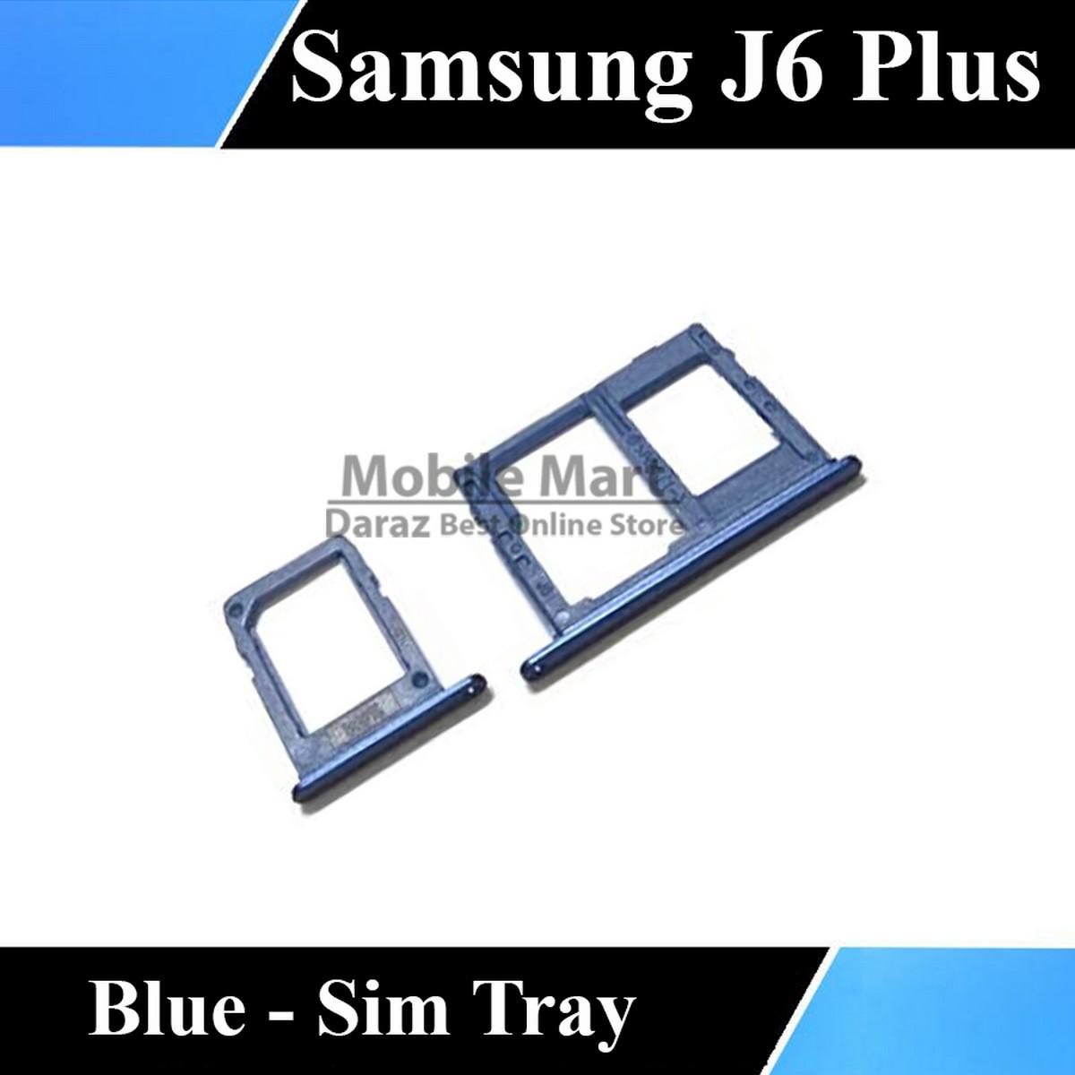 Samsung J6 Plus Tray Sim Jacket Sim Slot Sim Door For Galaxy J6 Plus - Blue