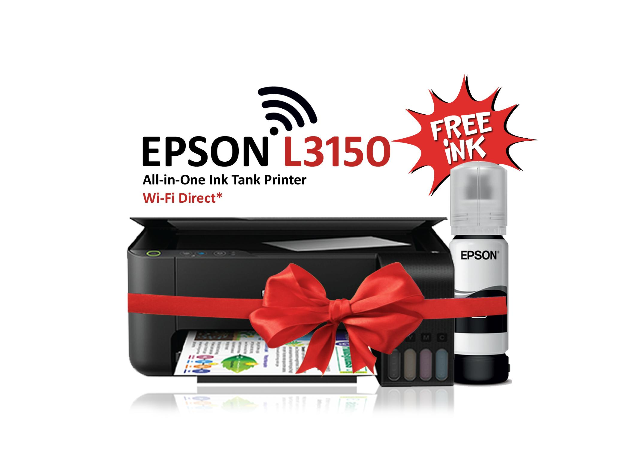 EPSON PRINTER L3150 ALL IN ONE INK TANK SYTEM (4 COLOR)