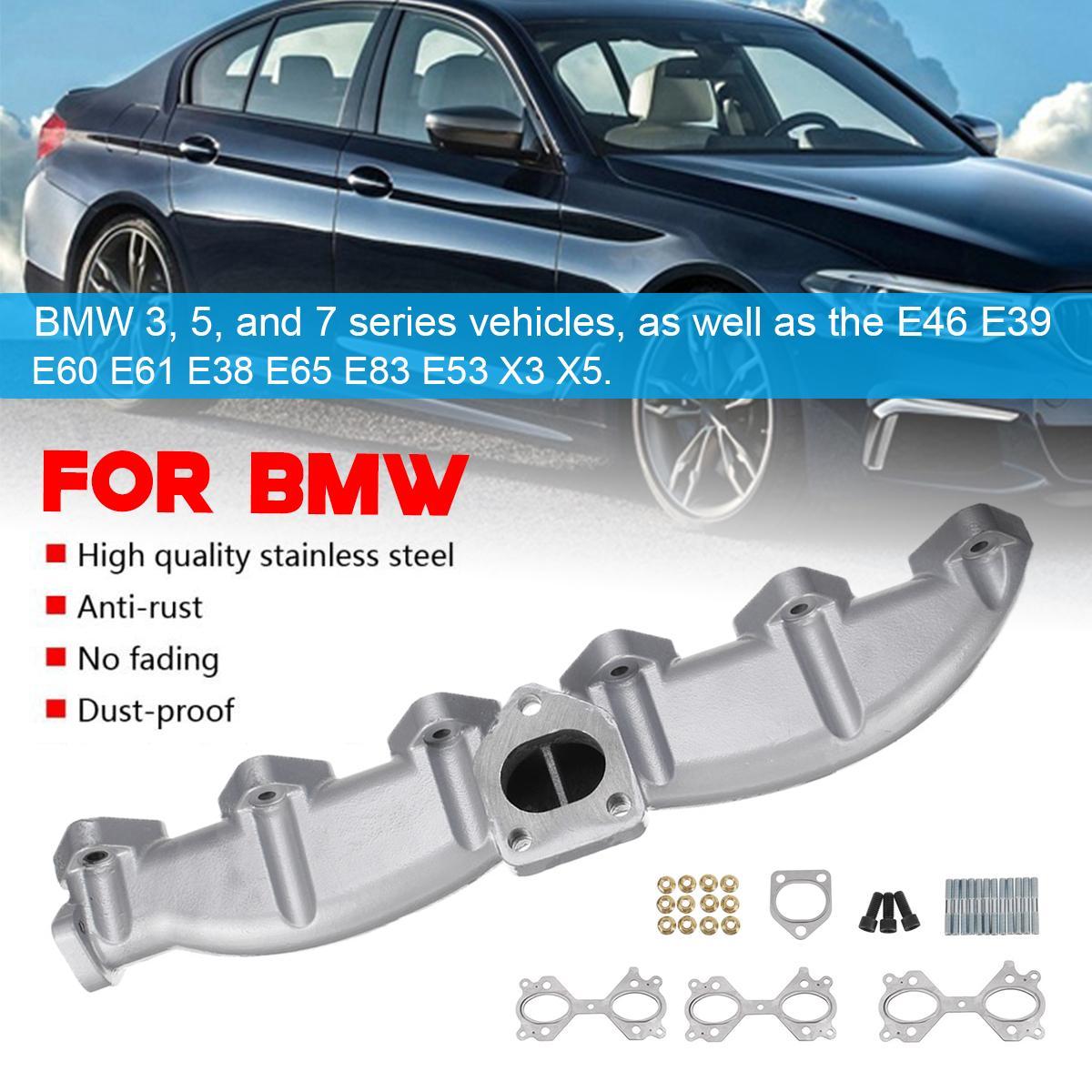 Speeding Car Cast Iron Exhaust Manifold Kit For BMW E46 E39 E60 E61 E38 E65  E83 E53 3 5 7