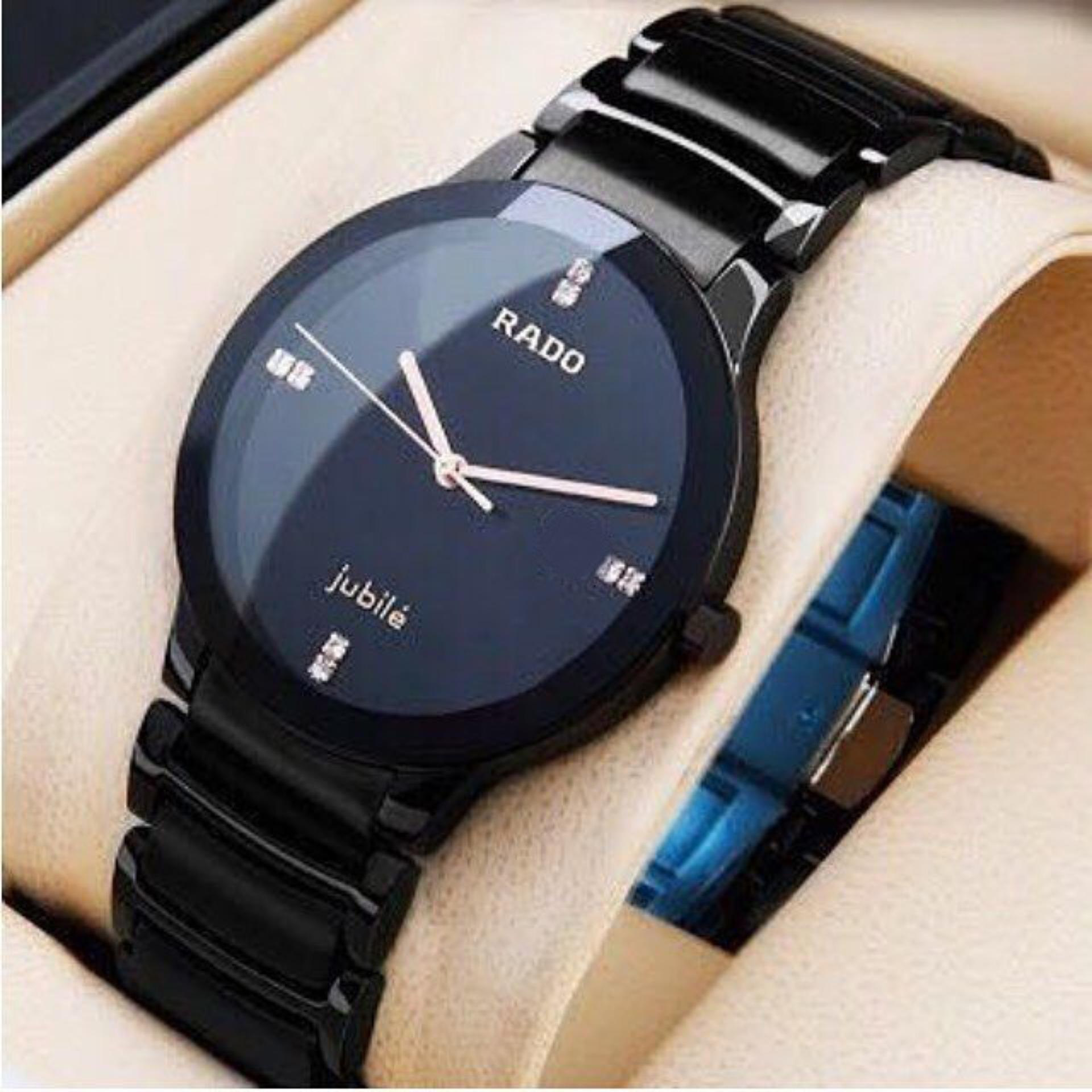 High Quality Stylish Casual Wrist Watch For Men Black Chain Waterproof