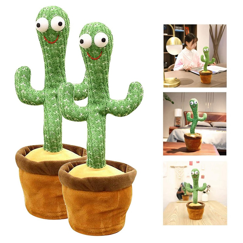Cactus Plush Toys, Electronic Cactus Plush Music Toy wtih Singing and Dancing, Stuffed Animal Toy, Kids Easter Home Funny Decoration Doll Gift, Childhood Early Education Game
