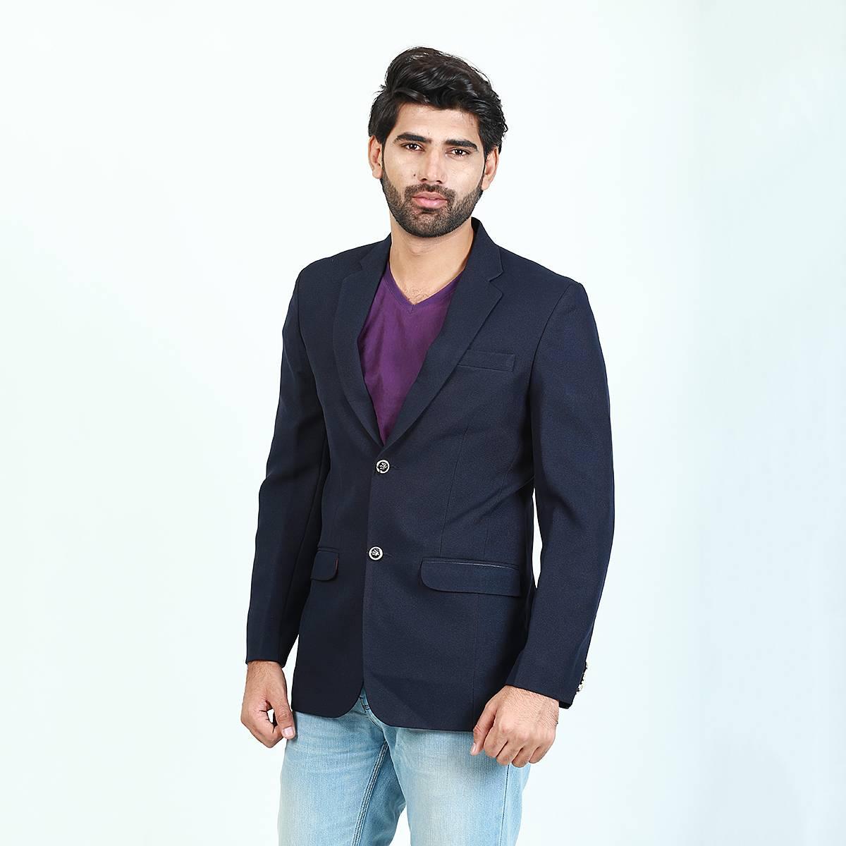 Cut Price Men Casual Coat Blazer 303 Navy Blue Fine Buttons