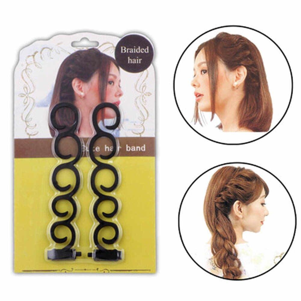 2 Pcs French Magic Braiding Tool Hair Styling Magic Twist Bun Maker Weave Braid Hair Women Hair Roller Accessories Beauty Tools