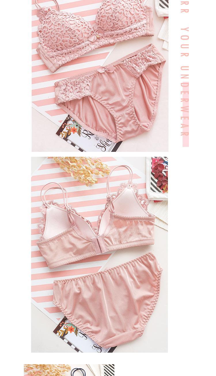 7e0cef6e4 Brand Hot Sale Sexy Lace Underwear Set Seamless Comfortable Women Bra Set  Fine Embroidery Lovely Girl