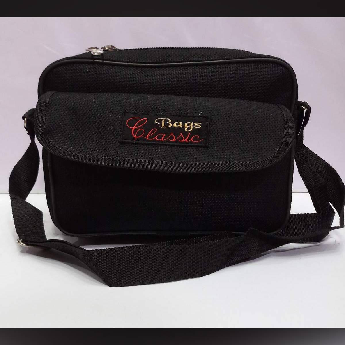 Hajj&Umrah, Madrassa, Travel, More Other Purpose Waterproof Small Vertical Shoulder Bag (Black)