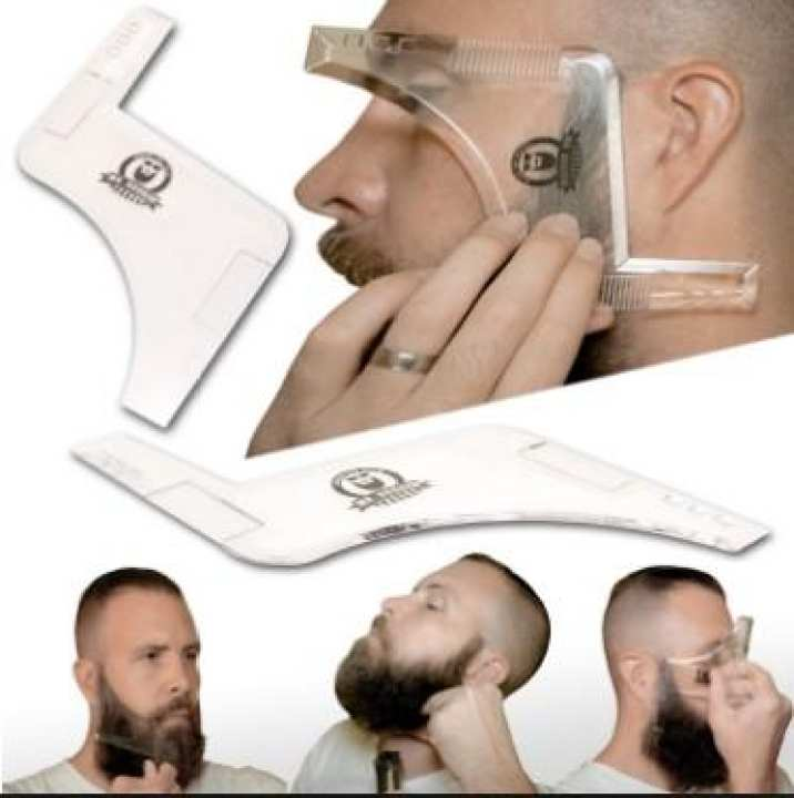 Shaping Styling Transparent Men's Beards Combs Beauty Tool for Hair Trim Lightweight and Fits Tool