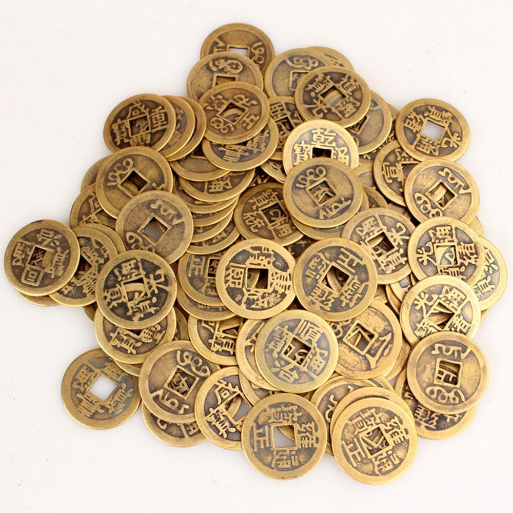Topsky 50pcs Authentic Ancient Chinese Coins Qing Dynasty Feng Shui Purpose  Fortune Copper Coin, Random Mixed 2 3cm/1inch