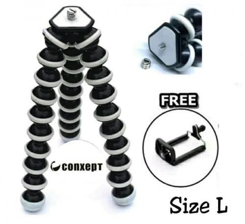 Portable Flexible 10 inch LARGE Octopus Stand Gorilla tripod Z-03 for Digital Cameras, Mobiles & DSLR With Phone Holder