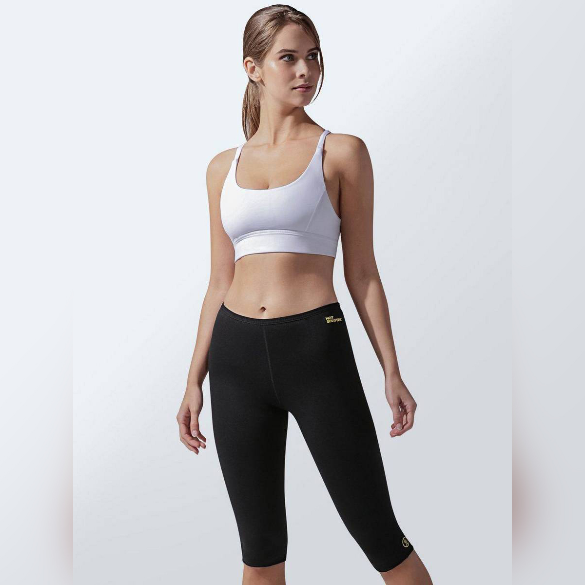 Hot Thermo Body Shaper, Neoprene Slimming Capri Pants, Thighs Fat Burner, Best Workout Sauna Suit, High Waist Tummy Control Shapewear for Weight Loss