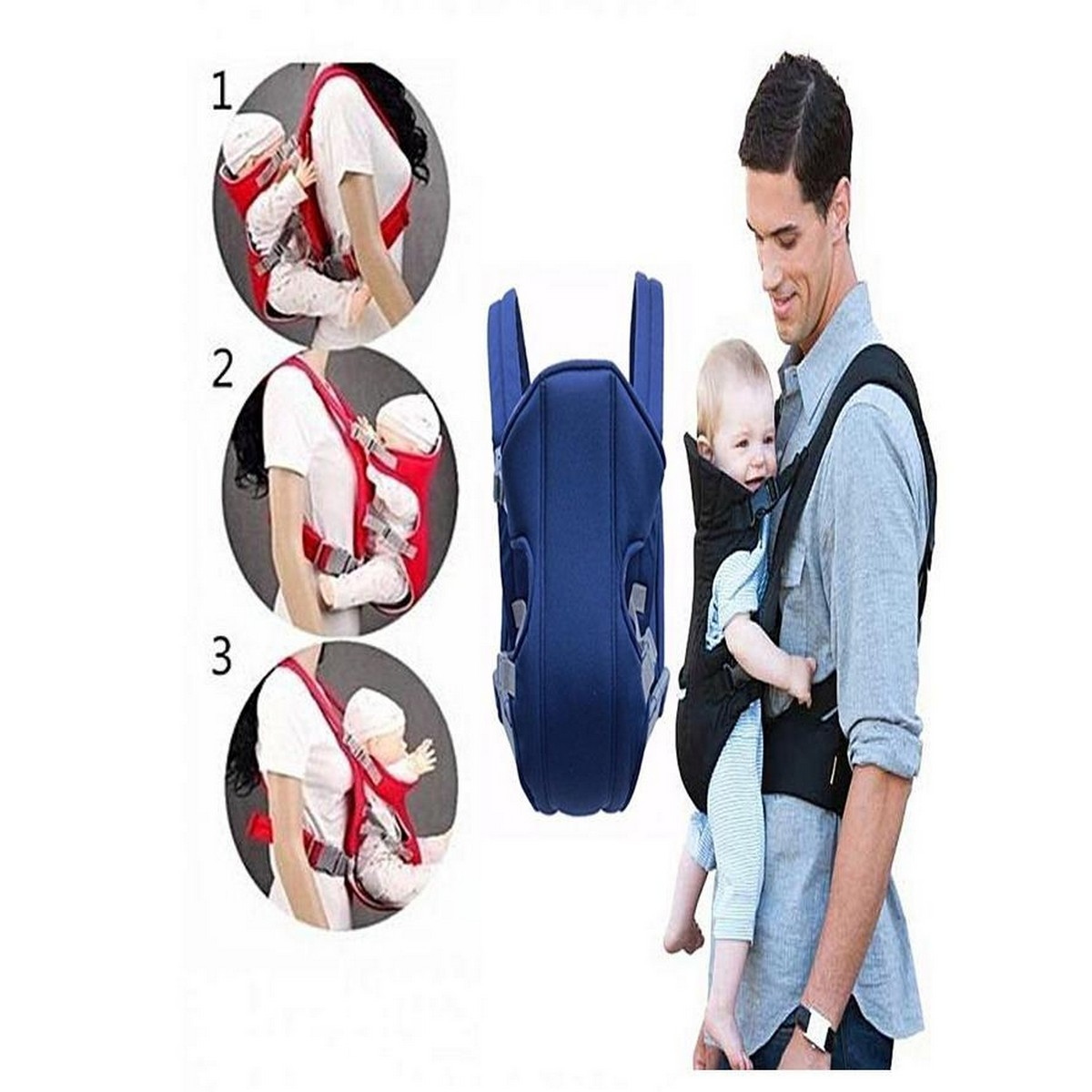 Baby Carrier Bag Multifunctional Crossbody Carrier - MultiColor