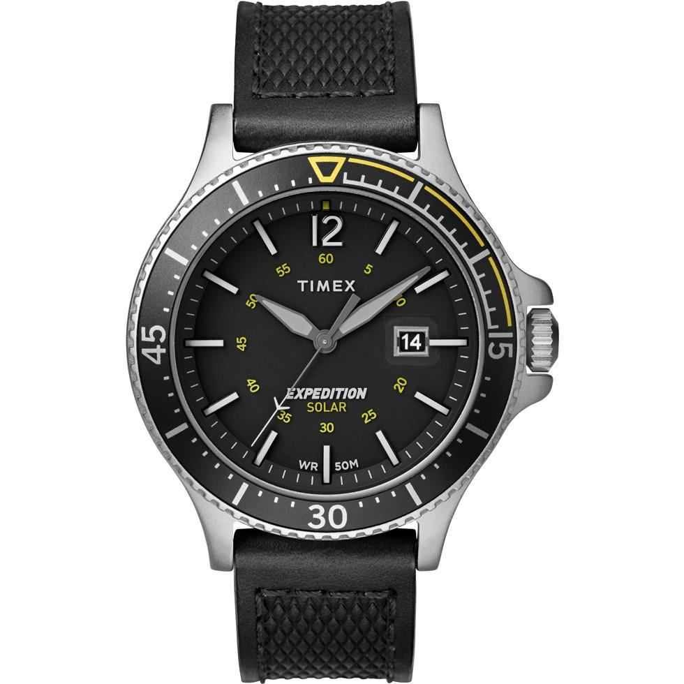 TIMEX EXPEDITION RANGER SOLAR 43MM LEATHER STRAP WATCH FOR MEN-TW4B14900