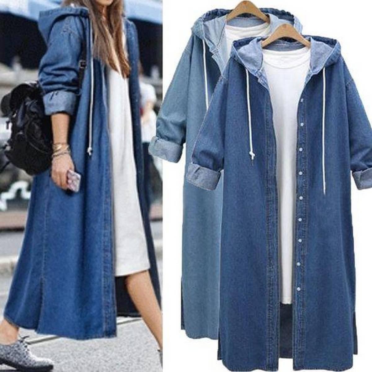 Denim style Top - Denim full hoody for Women