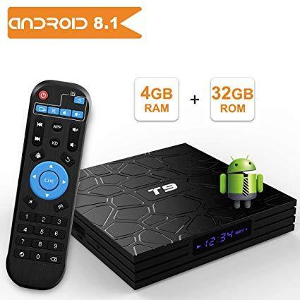 T9 Android 8 1 TV BOX, 4GB RAM 32GB ROM RK3328 Quad Core
